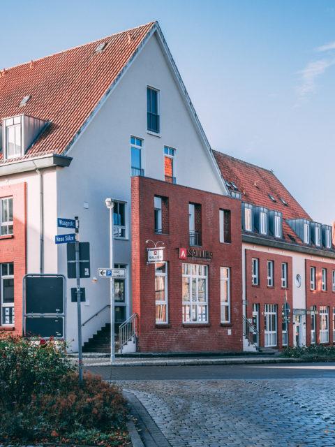 Blick auf das Büro von Sallier Immobilien in Lüneburg