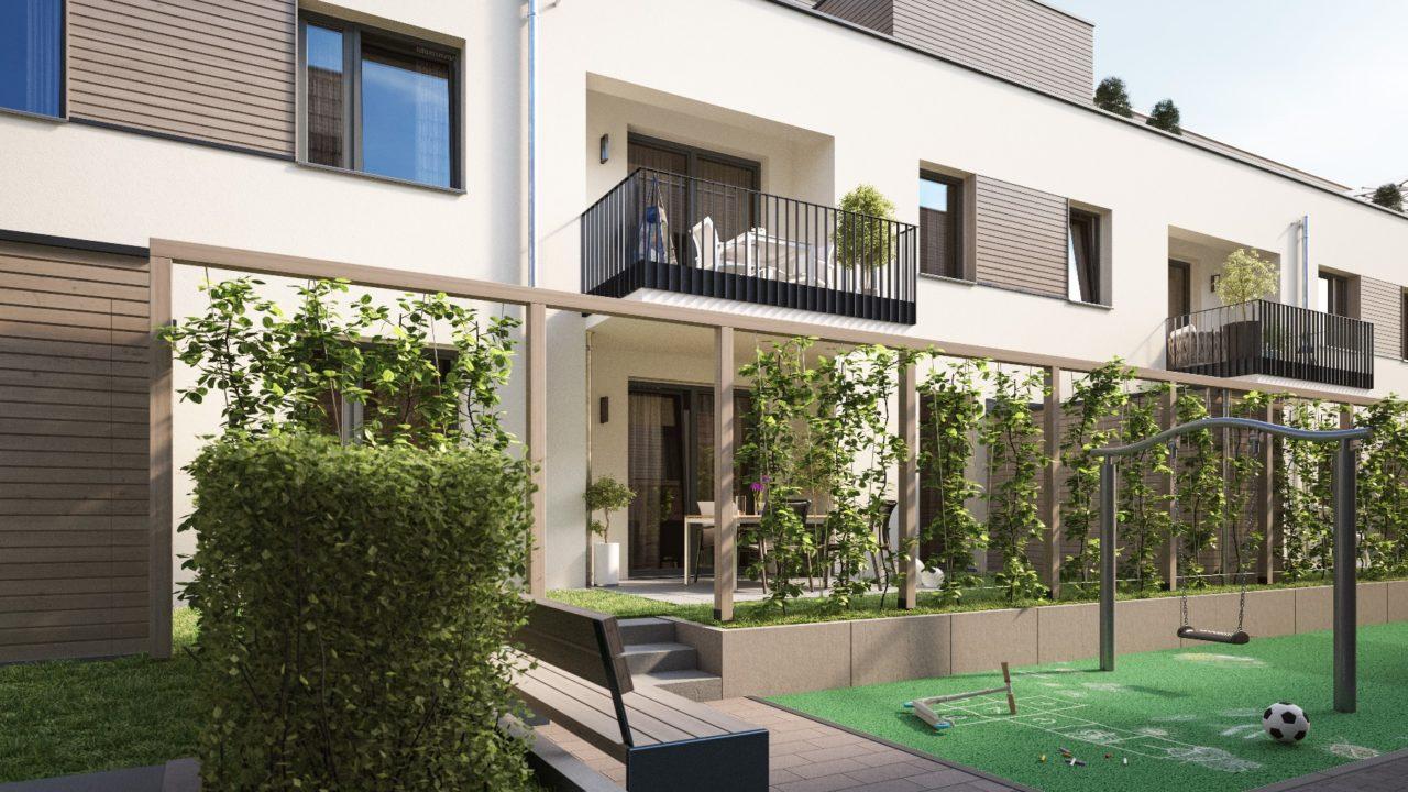 Sallier Immobilien Projekt Lü Innenhof Pergola